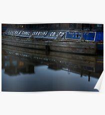 Barge, Gloucester Docks, Gloucester Poster