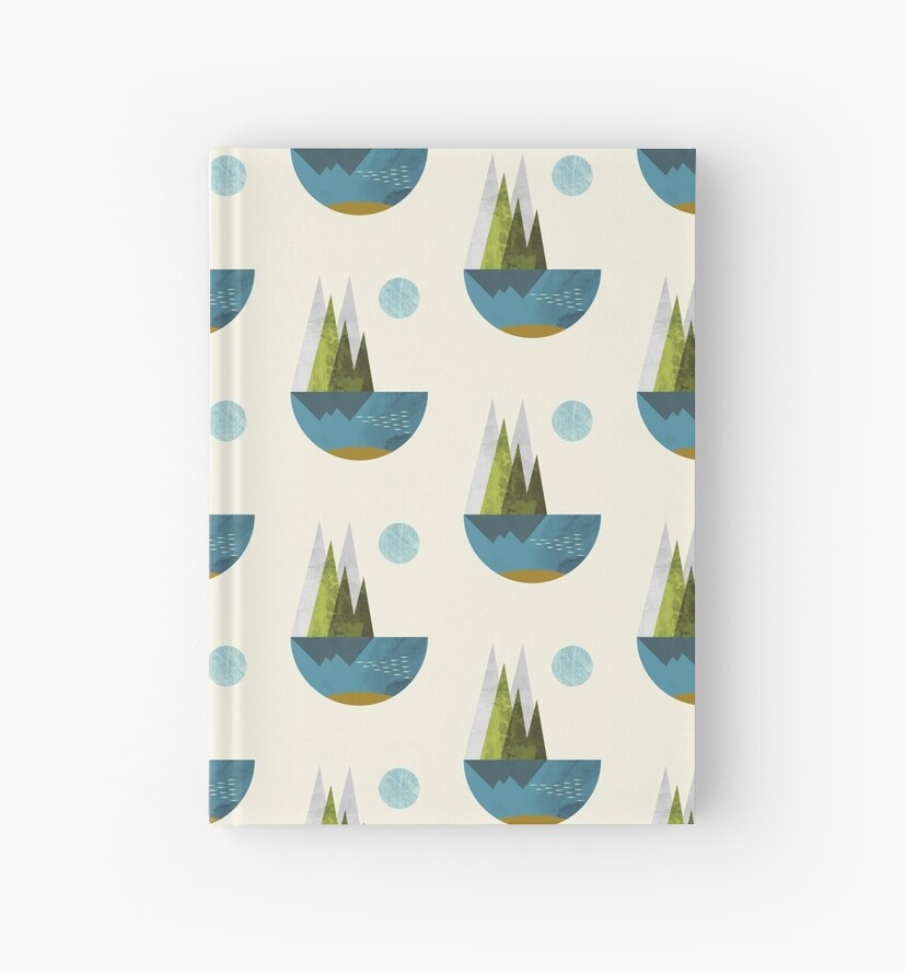 Earth, geometric print by FLATOWL