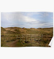 Bridge and Sand Dunes Holywell Bay Poster