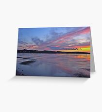 Sunset over Salthouse Marshes Greeting Card
