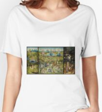 The Garden of Earthly Delights by Hieronymus Bosch (1480-1505) Women's Relaxed Fit T-Shirt