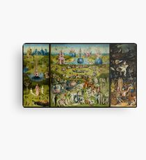 The Garden of Earthly Delights by Hieronymus Bosch (1480-1505) Metal Print