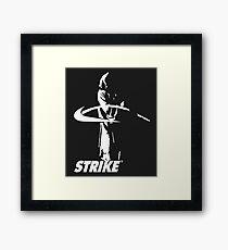 STRIKE NIKE (dark backgroung) Framed Print