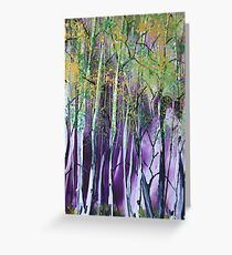 Deep in the Birches - Encaustic Painting Greeting Card