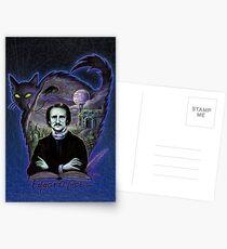 Edgar Allan Poe Gothic Postcards