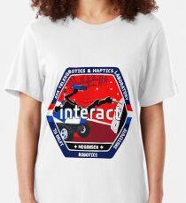 INTERACT: Interaktives Robotik-Demonstrationslogo Slim Fit T-Shirt