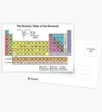 Das Periodensystem der Elemente Postkarten
