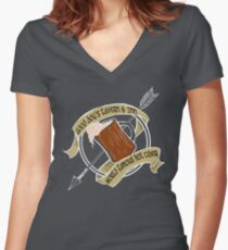 Good Dog's Tavern & Inn Women's Fitted V-Neck T-Shirt