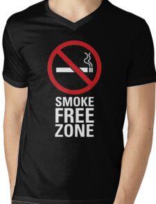 Smoke Free Zone - Light Mens V-Neck T-Shirt