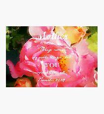 Roses - Verse Photographic Print