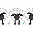 Trio of sheep by Running-Duck