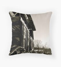 Tattered History Throw Pillow