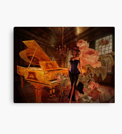 Piano Notes Canvas Print