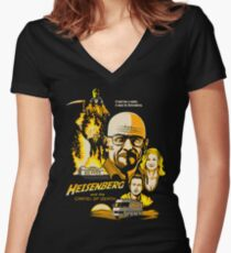 Heisenberg and the Cartel of Death Women's Fitted V-Neck T-Shirt