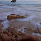 Beauport Beach in Jersey by Alicja Ludwikowska
