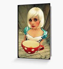 Alice will take tea Greeting Card