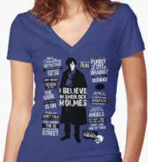 Detective Quotes Women's Fitted V-Neck T-Shirt