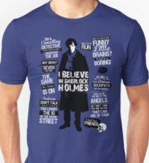 Detective Quotes Slim Fit T-Shirt