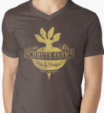 Schrute Farms (Special Mose edition!) Men's V-Neck T-Shirt
