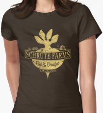 Schrute Farms (Special Mose edition!) Women's Fitted T-Shirt