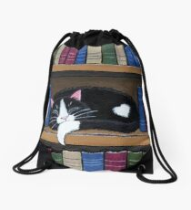 Book Love Drawstring Bag