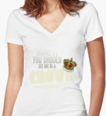 """Honey, you should see me in a crown!"" Women's Fitted V-Neck T-Shirt"