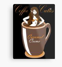 Coffee Cuties Caramel Creme Metal Print