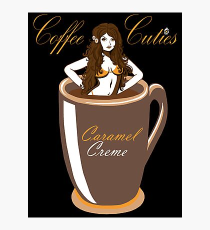 Coffee Cuties Caramel Creme Photographic Print