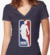 WHO Sport No.11 Women's Fitted V-Neck T-Shirt