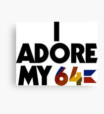 I Adore My 64 (Black) Canvas Print
