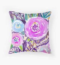 Gardens of Sausalito Watercolor Floral Throw Pillow