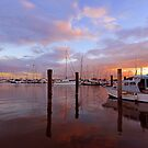 Sunrise at Scarborough Boat Harbour. Brisbane, Queensland, Australia. by Ralph de Zilva
