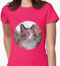 Calico Cat Womens Fitted T-Shirt