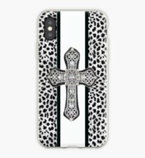 Animal Print Rhinestone Crusted Cross IPhone or I Pod Case iPhone Case