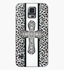 Animal Print Rhinestone Crusted Cross IPhone or I Pod Case Case/Skin for Samsung Galaxy