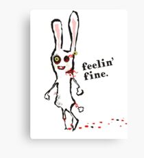 zombie bunny rabbit feelin fine Canvas Print