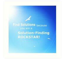 Find Solutions Motivational Poster Art Print