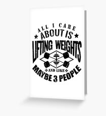 Bodybuilding Lifting Weights Gym Greeting Card