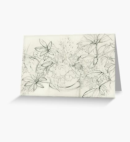 Begonia Among Rhododendron Greeting Card