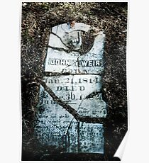 MR WEIR'S TOMBSTONE Poster