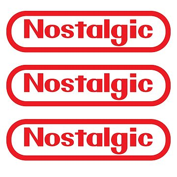 Sticker Pack! NES Collection : Nostalgic Logo by merimeaux