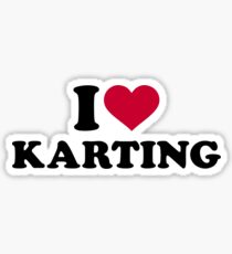 I love Karting Sticker
