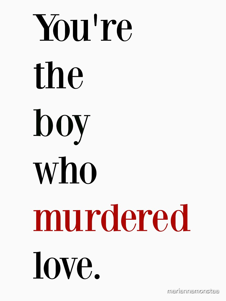The boy who murdered love -red/black by mariannamonstaa