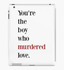 The boy who murdered love -red/black iPad Case/Skin