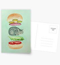 Catsup - Cat Burger Delight! Postcards