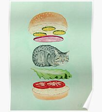 Catsup - Katze Burger Freude! Poster
