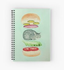 Catsup - Cat Burger Delight! Spiral Notebook