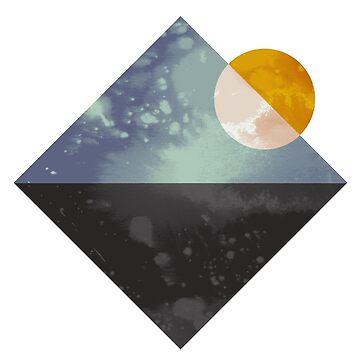 Sea and sun geometric by FLATOWL