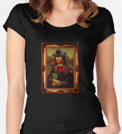 This is a Fake Women's Fitted Scoop T-Shirt