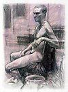 Portrait of Damon by Roz McQuillan